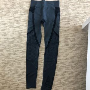 Abercrombie amazing blue and black leggings small